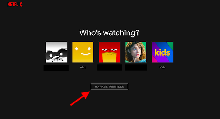 how to change netflix avatar step 1