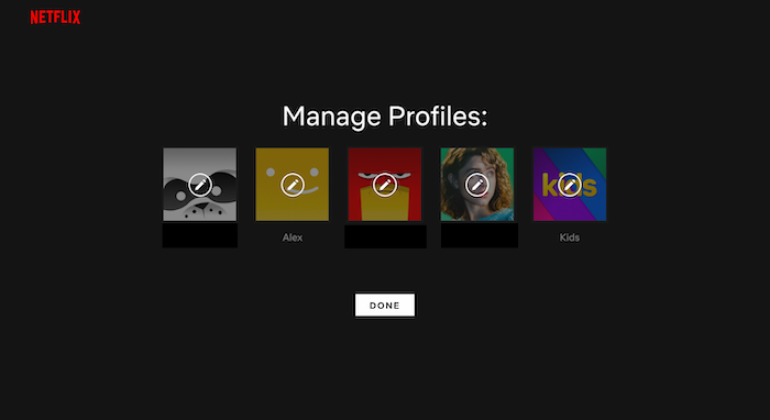 how to change netflix avatar step 2