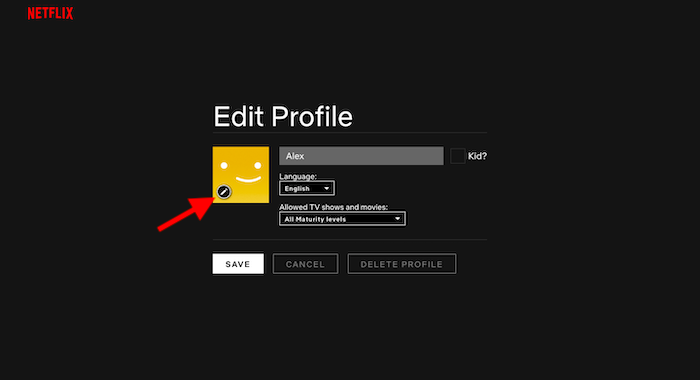 how to change netflix avatar step 3