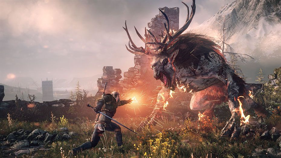 The Witcher 3 combate