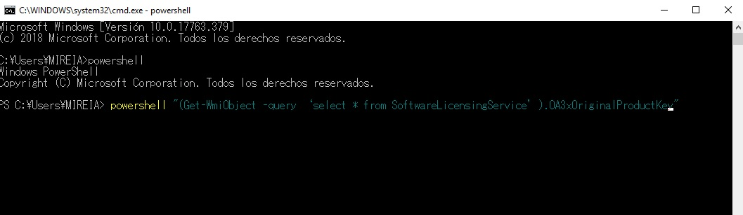 Cómo encontrar la clave para activar Windows 10
