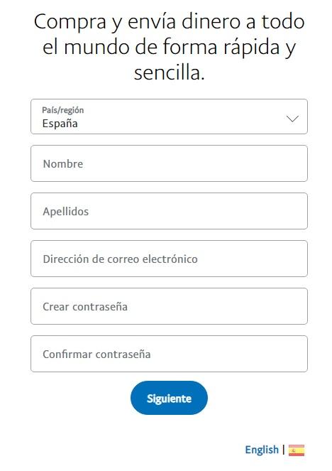 PayPal: Cómo crear una cuenta paso a paso