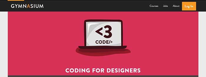 Gymnaisum coding for designers