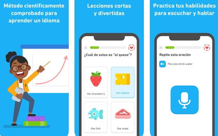 Interfaz de Duolingo