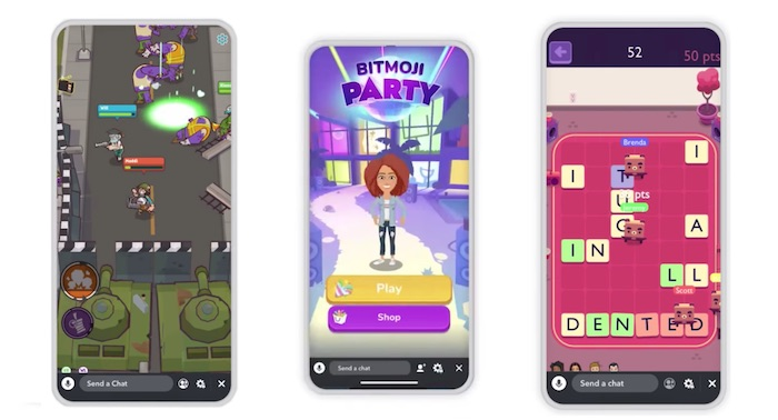 mobile gaming snapchat bitmoji party