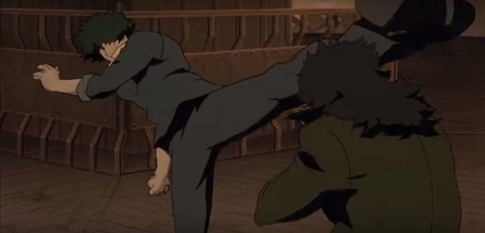 Cowboy Bebop Spike fighting Vincent