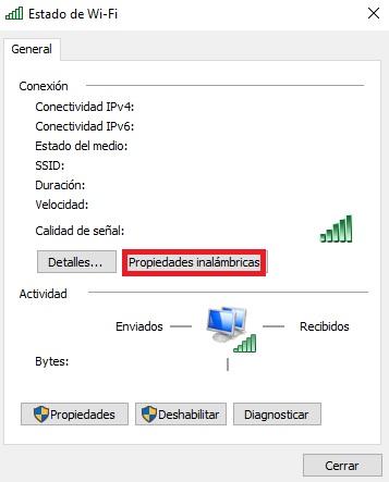 Windows 10: Cómo ver la contraseña de la red WiFi