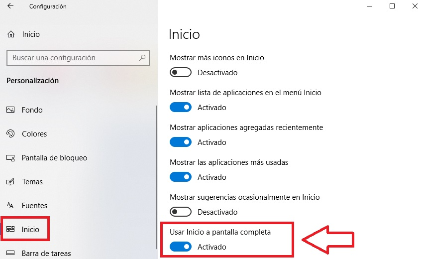 Aprende a personalizar el menú de Inicio de Windows 10