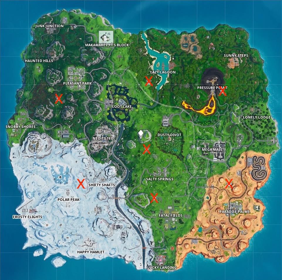fortnite season 9 week 1 challenge guide sky platform map
