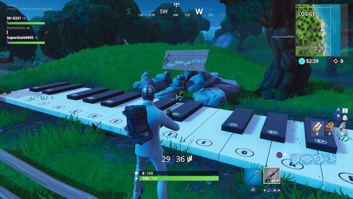 fortnite season 9 week 2 challenges big piano