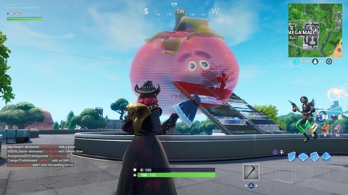 fortnite season 9 week 4 challenges tomato head sign