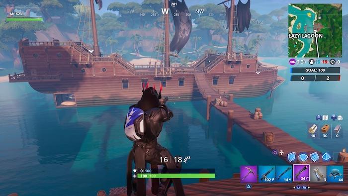 fortnite season 9 week 9 pirate ship