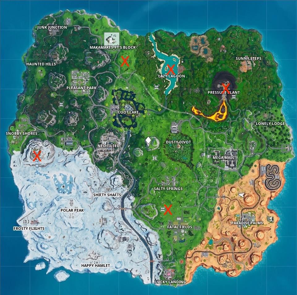 fortnite season 9 week 10 harvesting map