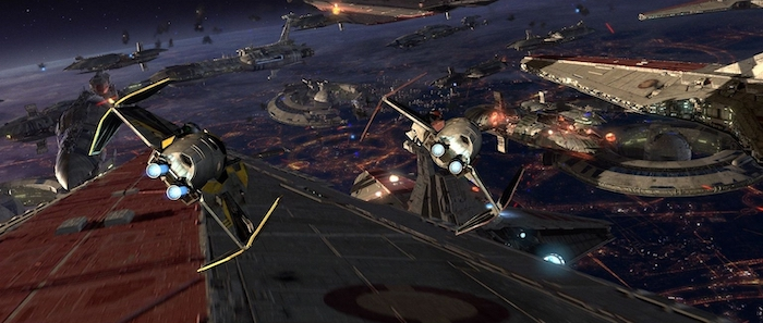 star wars revenge of the sith space battle