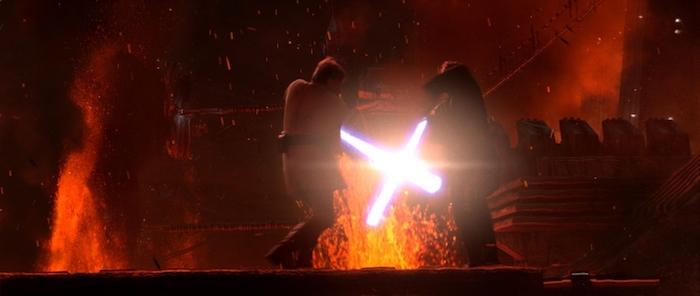 star wars revenge of the sith mustafar duel