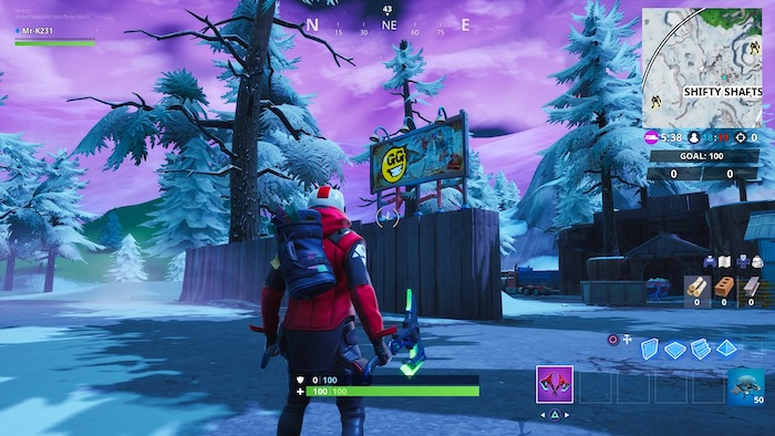 fortnite season 10 week 2 graffiti billboard