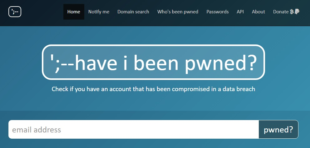 Have I Been Pwned?