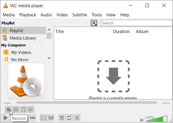 Advanced controls on VLC