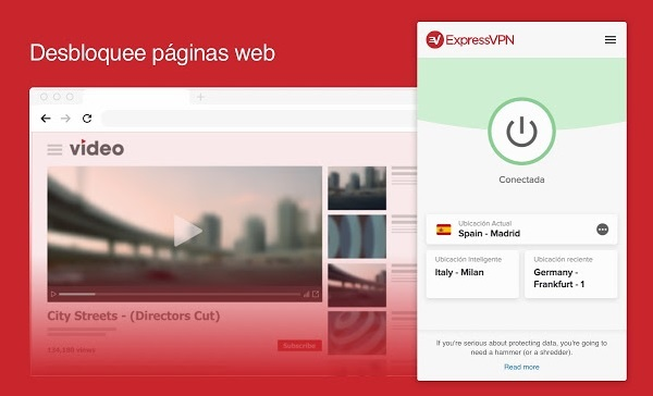 ExpressVPN interface