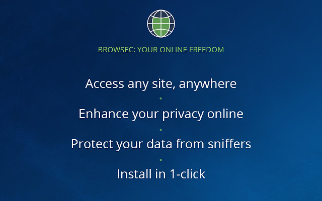 Browsec VPN extension