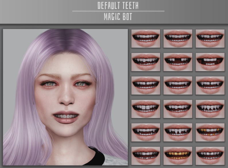 Los Sims 4 Default Teeth mod
