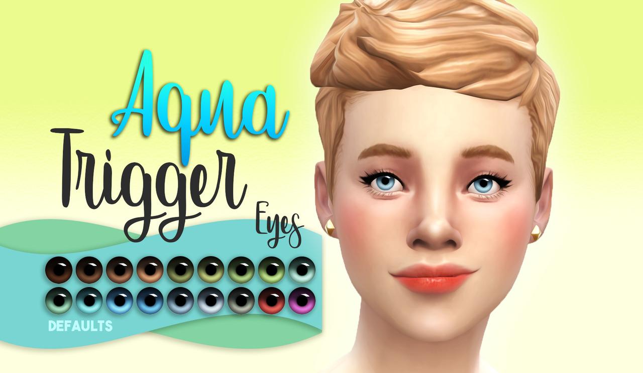Los Sims 4 Aqua Trigger Eyes mod