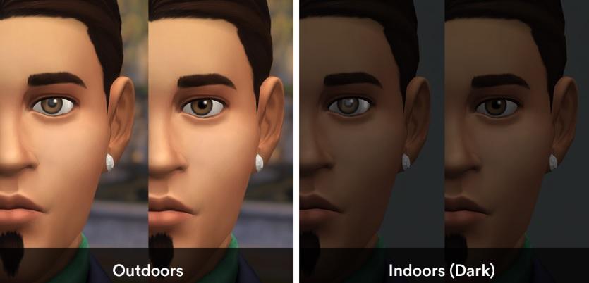 Los Sims 4 Eye Shine Remover mod