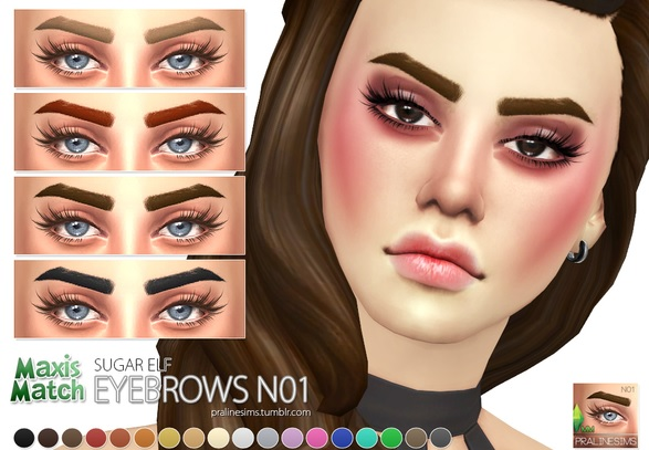Los Sims 4 Maxis Match Eyebrows mod
