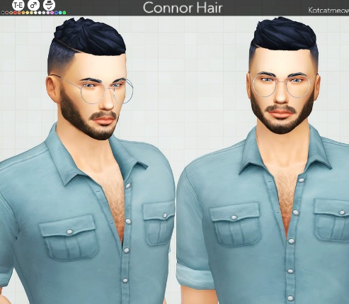 Connor Hair mod para Los Sims 4