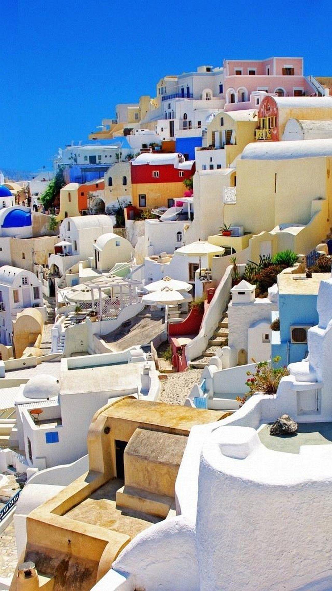 Fondo de pantalla Santorini