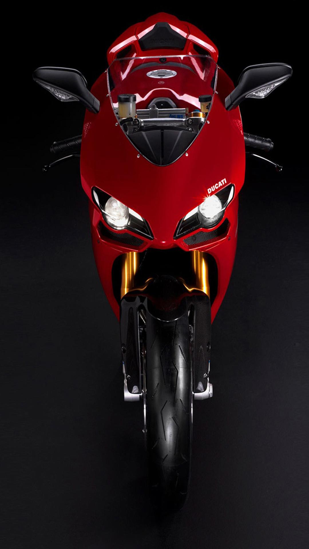 Fondo de pantalla con moto roja