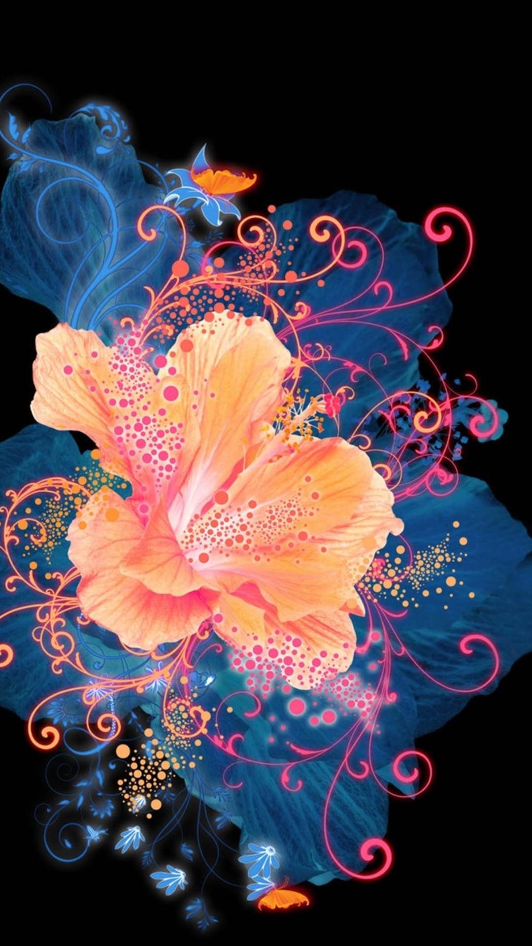 Fondo de pantalla abstracto con flor