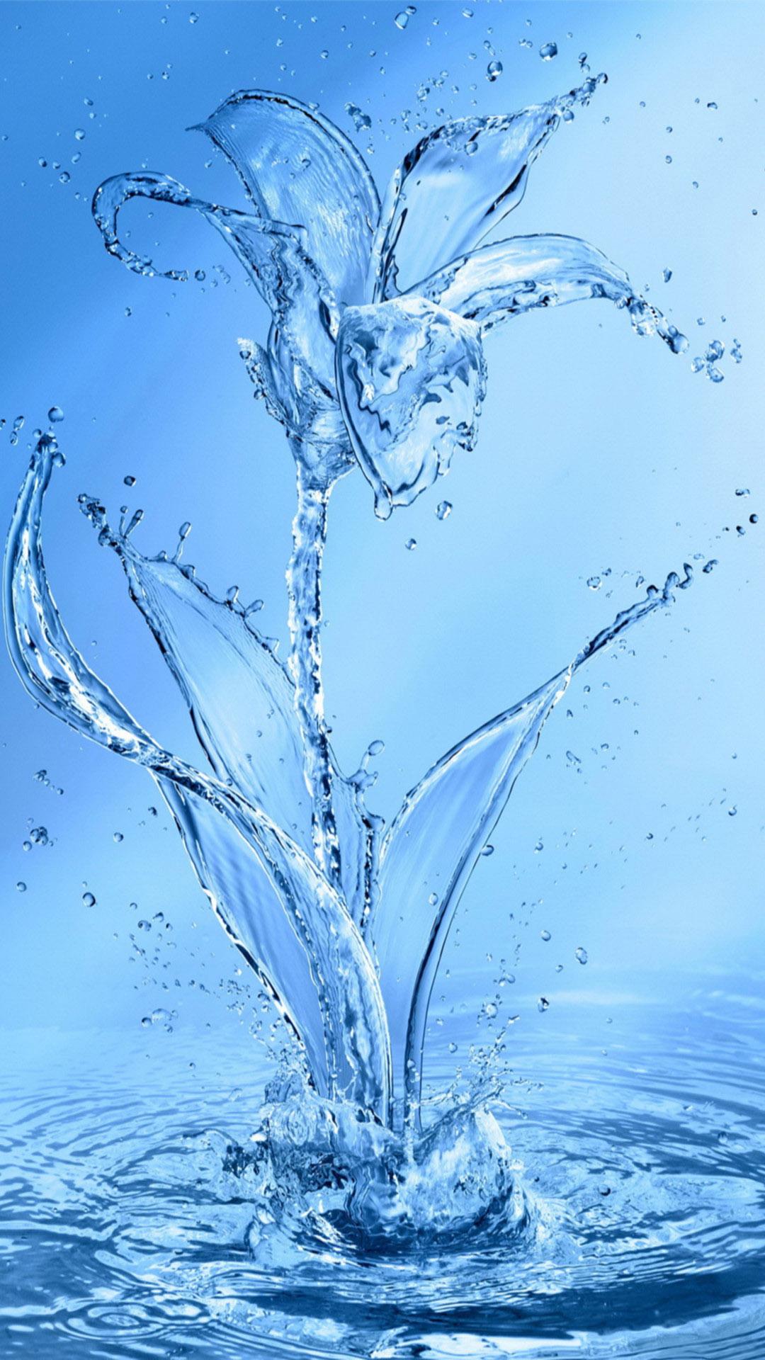 Fondo de pantalla abstracto con flor de agua