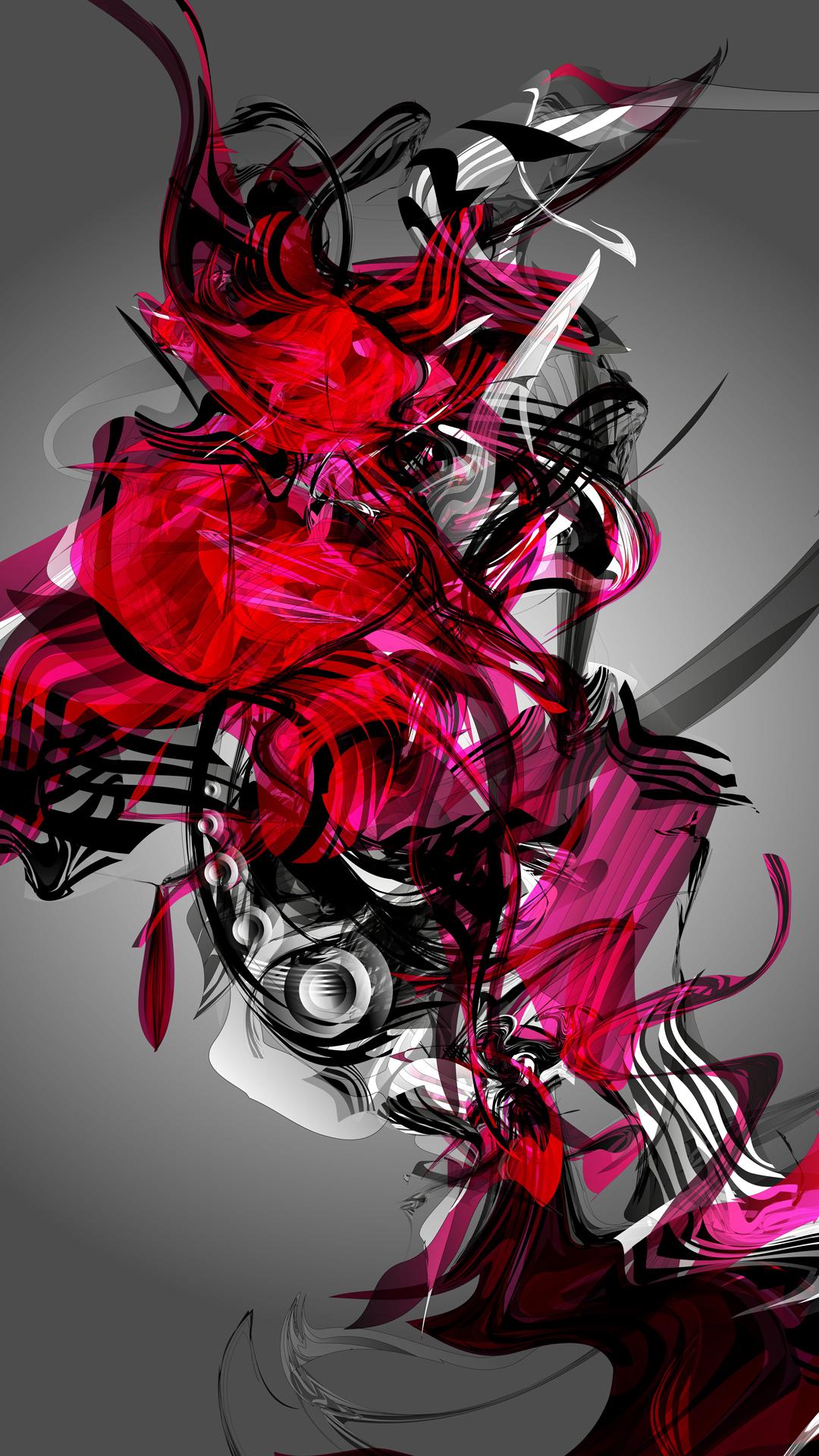 Fondo de pantalla abstracto magenta