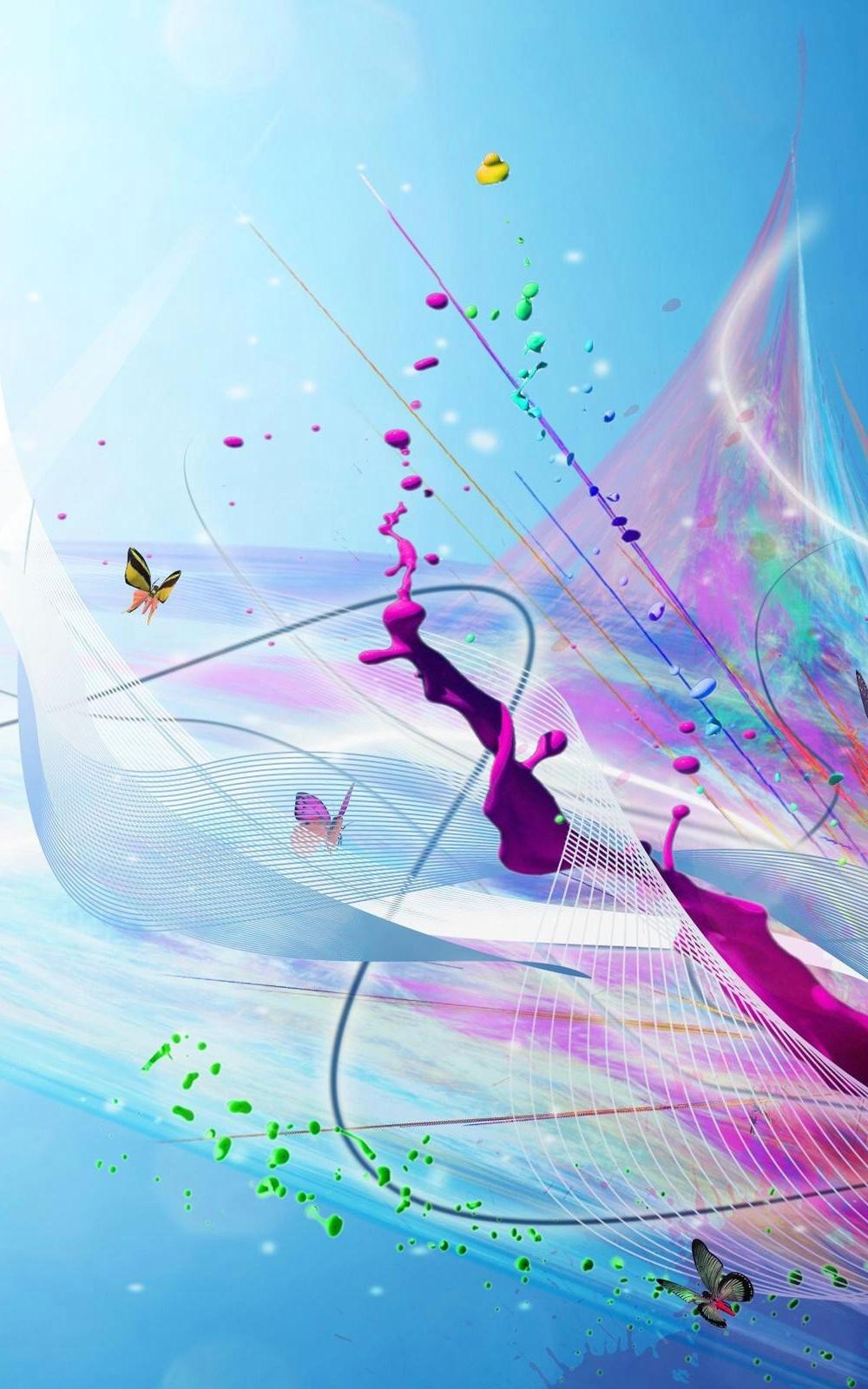 Fondo de pantalla abstracto rosa y azul