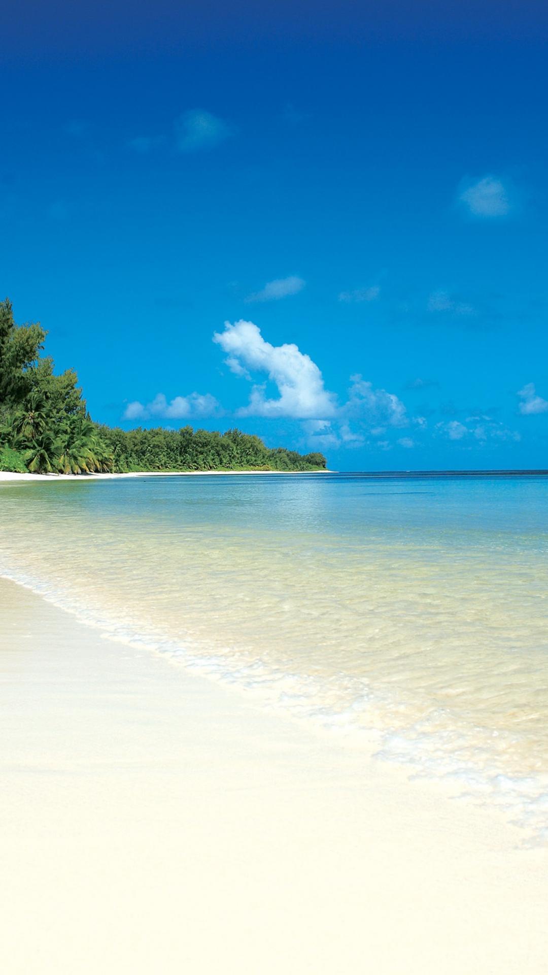 Fondo de pantalla con playa