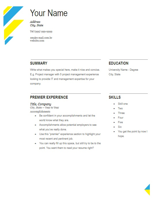 Plantilla Creative Two Page Resume