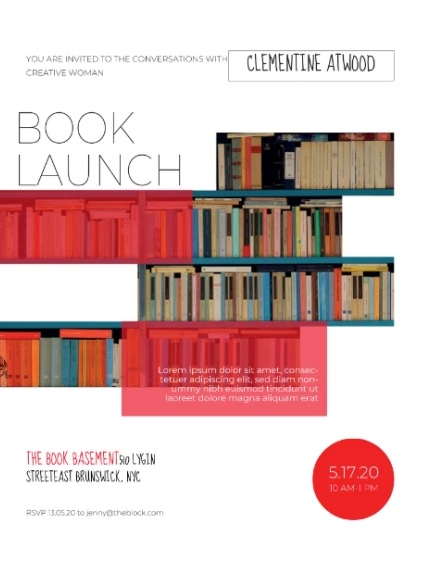 Plantilla Book Launch