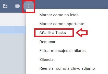 Añadir un email a tasks