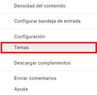Temas de Gmail