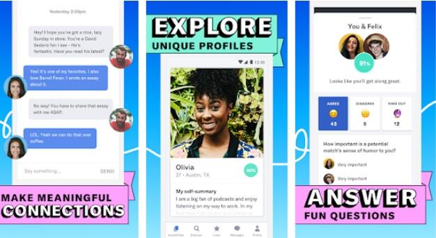 Interfaz de OkCupid