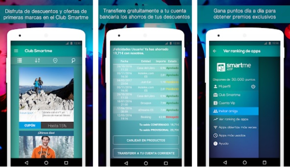 Interfaz de Smartme App