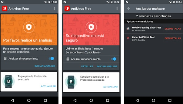 Interfaz de Bitdefender Antivirus Free