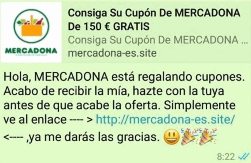 Bulo de Mercadona en WhatsApp