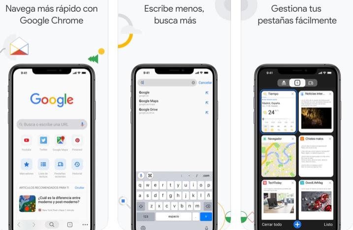 Interfaz de Chrome para iOS