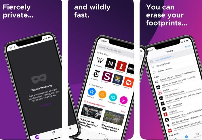 Interfaz de Firefox para iOS