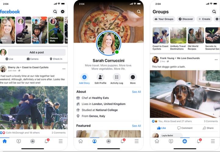Interfaz de Facebook para iOS