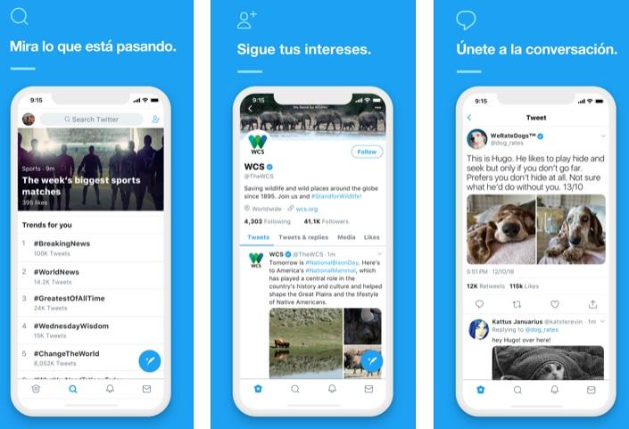 Interfaz de Twitter para iOS