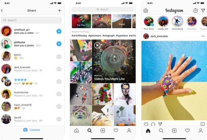 Interfaz de Instagram para iOS