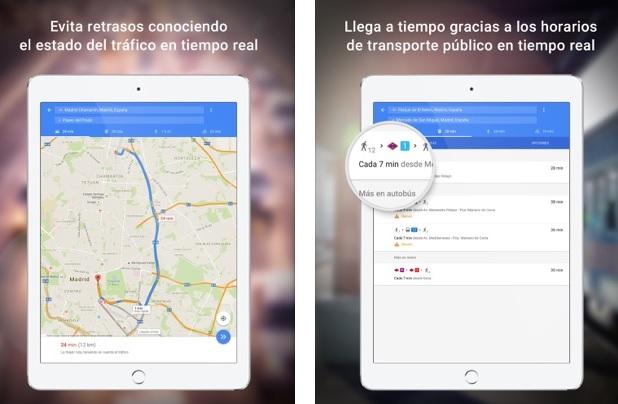 Interfaz de Google Maps en iOS